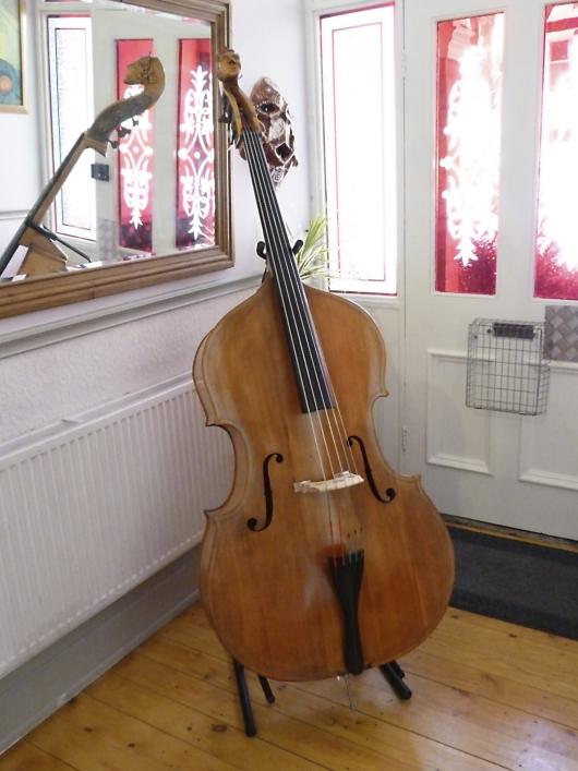 A five string double bass